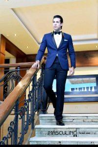 Traje navy blue- De caballeros trajes elegantes